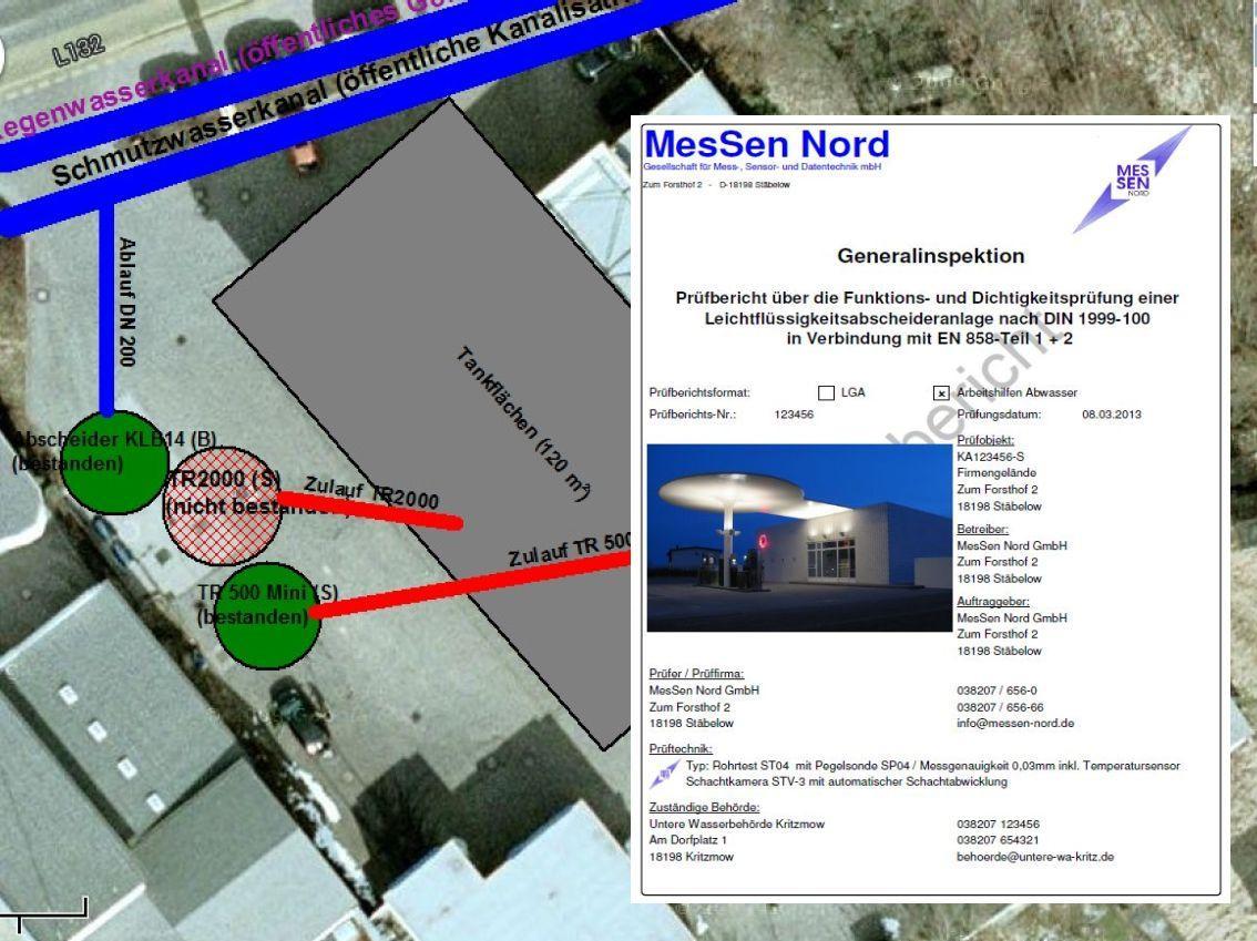 Musterbericht Abscheider-Generalinspektion nach DIN 4040-100