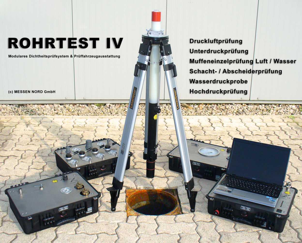 Dichtheitsprüfsystem ROHRTEST-4